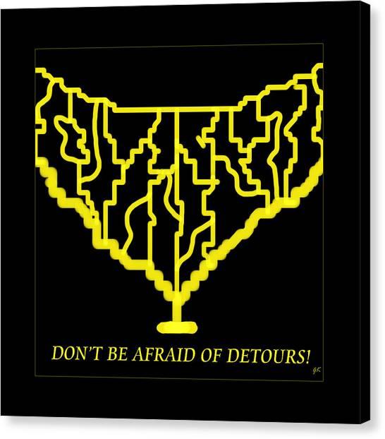 Detours Canvas Print
