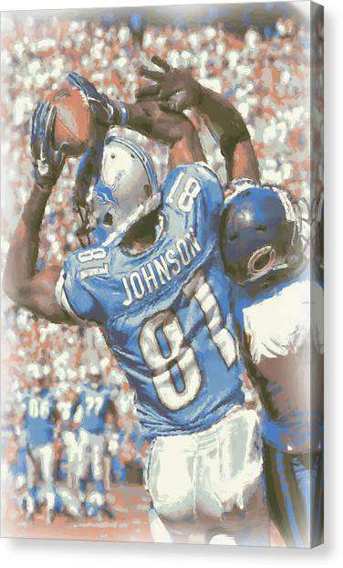 Detroit Lions Canvas Print - Detroit Lions Calvin Johnson 3 by Joe Hamilton