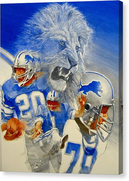 Detroit Lions Game Day Cover Canvas Print