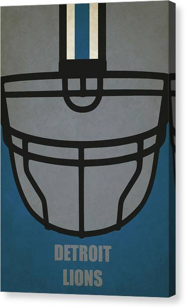 Detroit Lions Canvas Print - Detroit Lions Helmet Art by Joe Hamilton