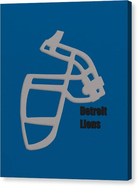 Detroit Lions Canvas Print - Detroit Lions Retro by Joe Hamilton