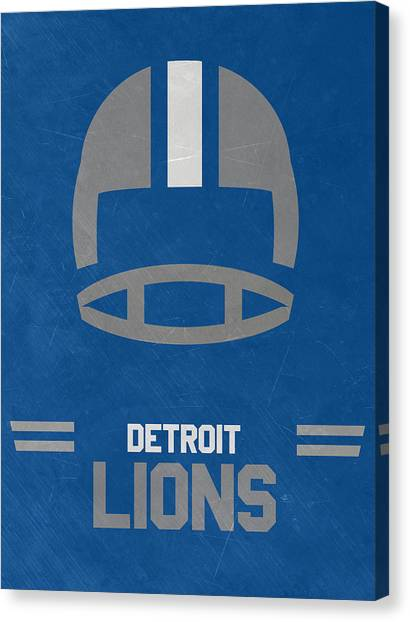 Detroit Lions Canvas Print - Detroit Lions Vintage Art by Joe Hamilton