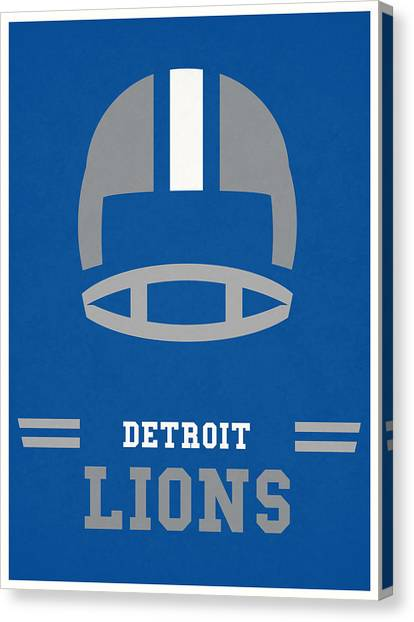 Detroit Lions Canvas Print - Detroit Lions Vintage Nfl Art by Joe Hamilton