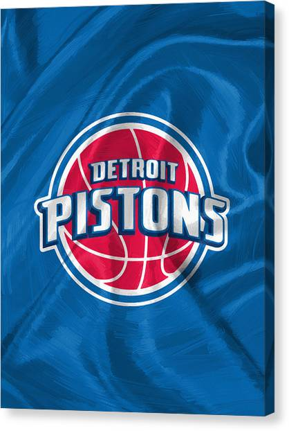 Detroit Pistons Canvas Print - Detroit Pistons by Afterdarkness