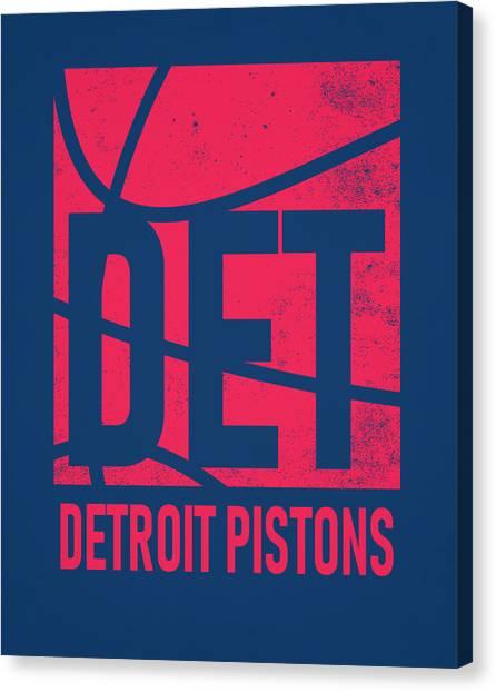Detroit Pistons Canvas Print - Detroit Pistons City Poster Art by Joe Hamilton