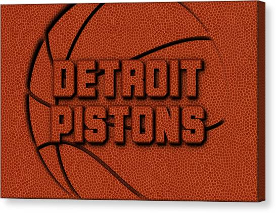 Detroit Pistons Canvas Print - Detroit Pistons Leather Art by Joe Hamilton