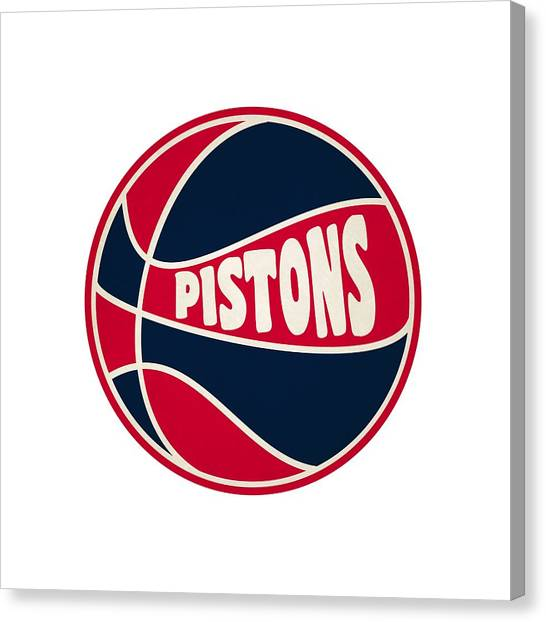 Detroit Pistons Canvas Print - Detroit Pistons Retro Shirt by Joe Hamilton