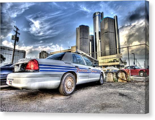 Detroit Police Canvas Print