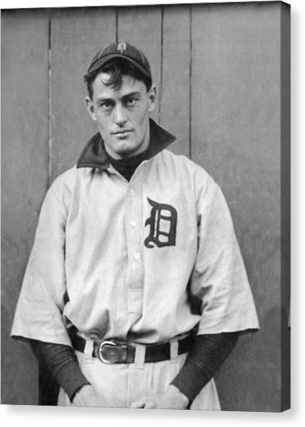 Detroit Tigers Canvas Print - Detroit Tigers Catcher by Underwood Archives
