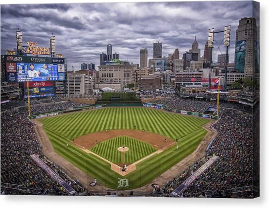 Detroit Tigers Comerica Park 4837 Canvas Print