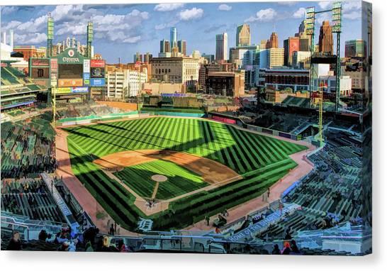 Detroit Tigers Canvas Print - Detroit Tigers Comerica Park by Christopher Arndt