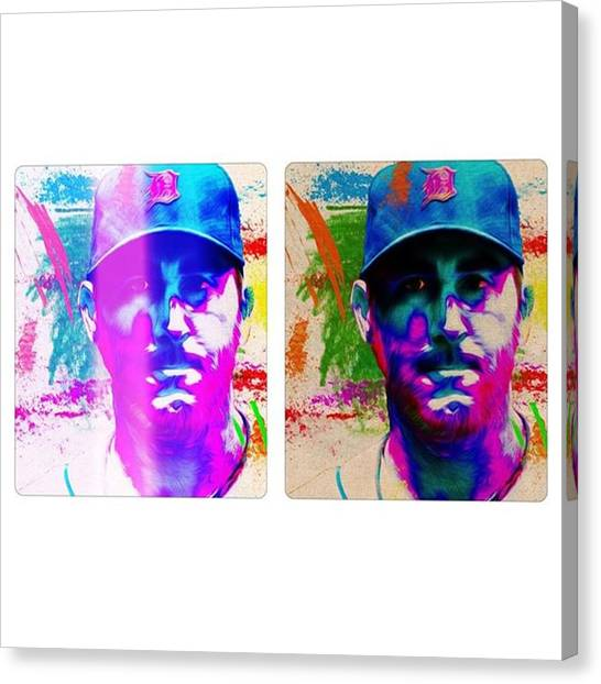 Baseball Canvas Print - #detroittigers #tigers #justinverlander by David Haskett II