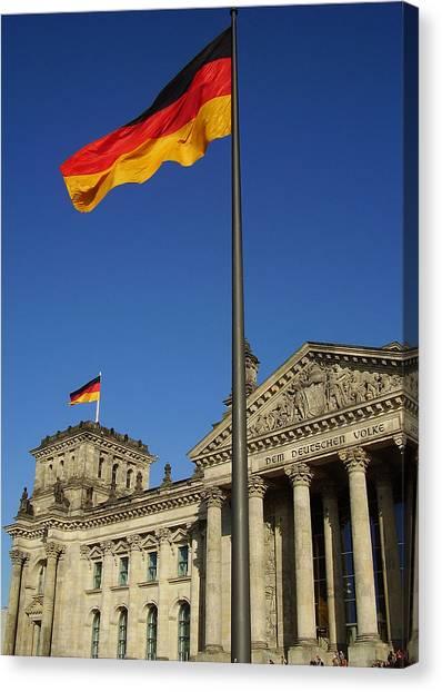 Deutscher Bundestag Canvas Print