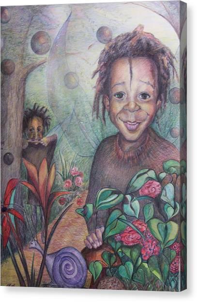 Deven's World Canvas Print by Joyce McEwen Crawford