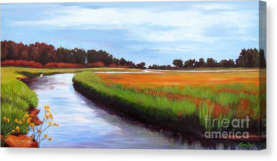 Ucsb Canvas Print - Devereux Slough by Lynn Fogel