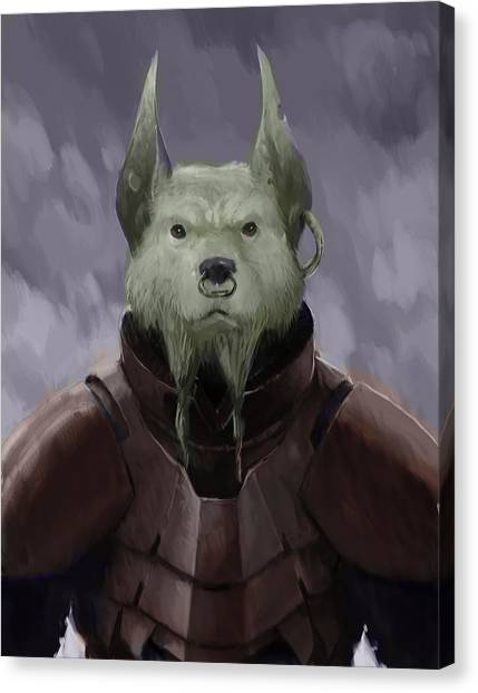 Science Fiction Canvas Print - Devil Dog by Marcus Lewis