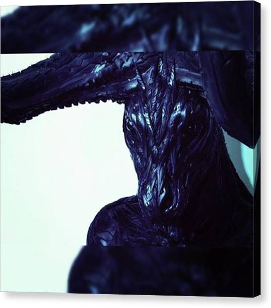 Satan Canvas Print - Devil Goat Made From Tires. Unknown by XPUNKWOLFMANX Jeff Padget