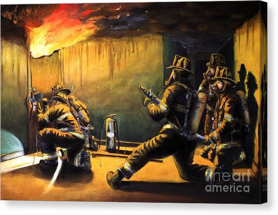 Firefighters Canvas Print - Devil's Doorway II by Paul Walsh