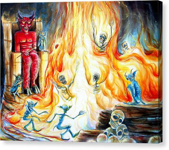 Devil's Inferno II Canvas Print