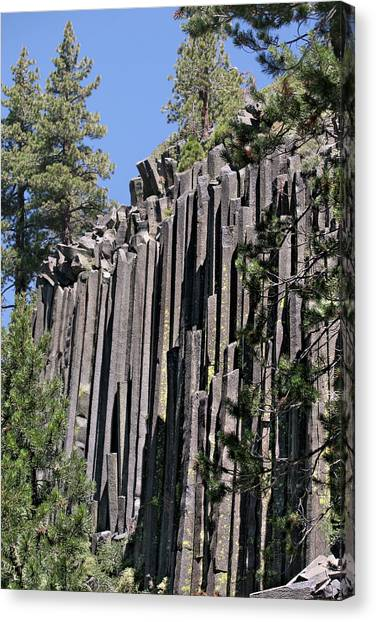 Devils Postpile National Monument - Mammoth Lakes - East California Canvas Print