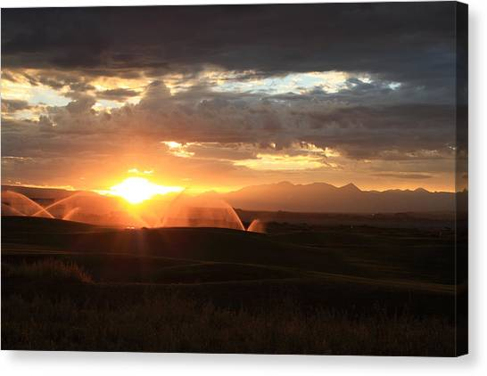 Devils Thumb Sunrise Canvas Print by Kevin Justin