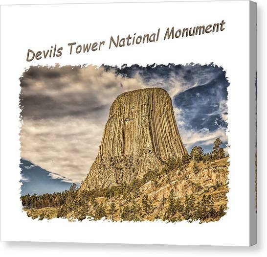 Devils Tower Inspiration 2 Canvas Print