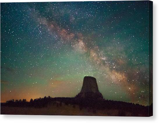 Devils Tower Lights Canvas Print