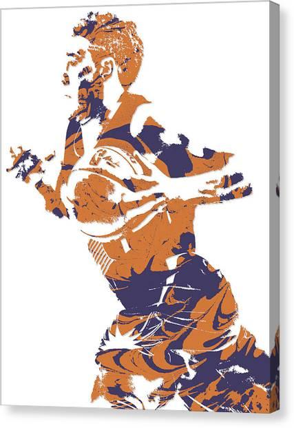 Phoenix Suns Canvas Print - Devin Booker Phoenix Suns Pixel Art 5 by Joe Hamilton