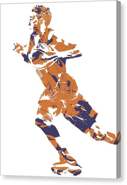 Phoenix Suns Canvas Print - Devin Booker Phoenix Suns Pixel Art 7 by Joe Hamilton