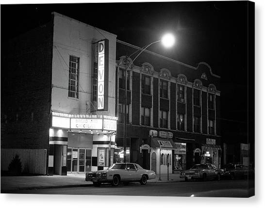 Devon Theatre, 1979 Canvas Print