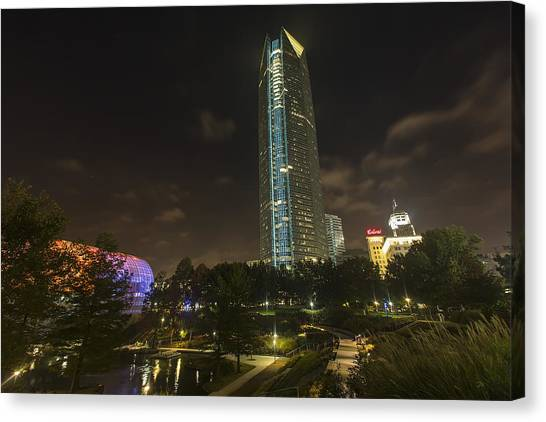 Devon Tower Okc Canvas Print