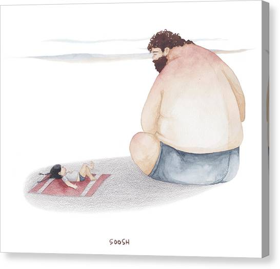 Dad Canvas Print - Devoted Father by Soosh
