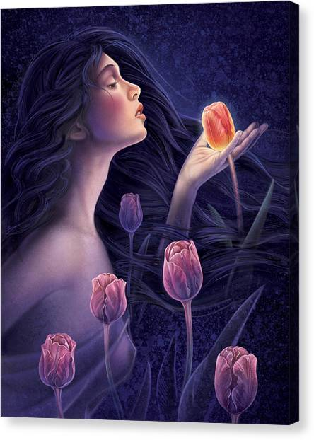 Devotee To Beauty Canvas Print