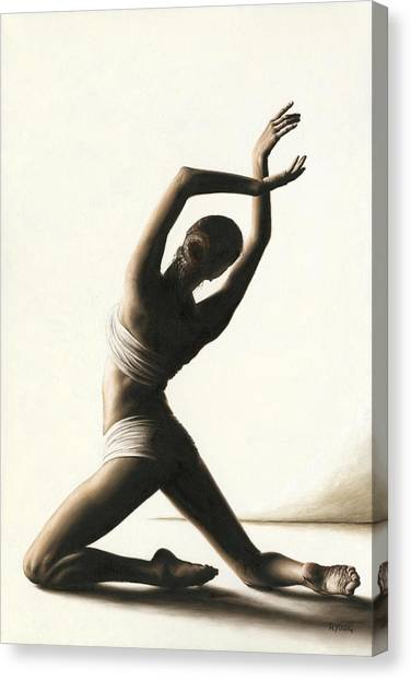 Ballet Canvas Print - Devotion To Dance by Richard Young