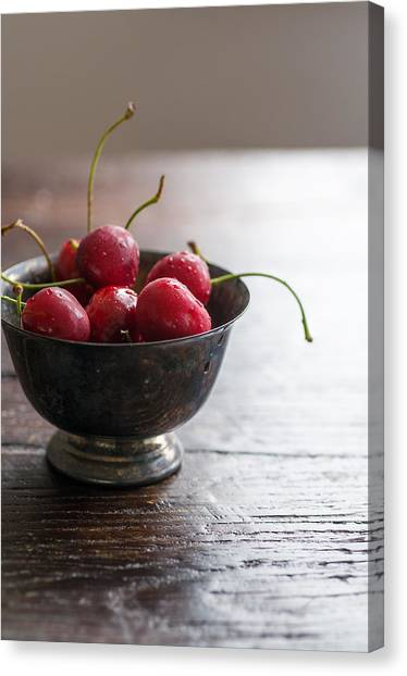 Dewy Cherries Canvas Print