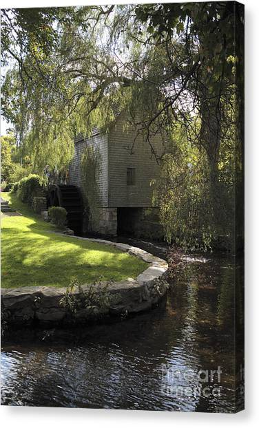 Dexter Mill Race In Sandwich Massachusetts Canvas Print