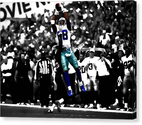 Troy University Troy Canvas Print - Dez Bryant by Brian Reaves