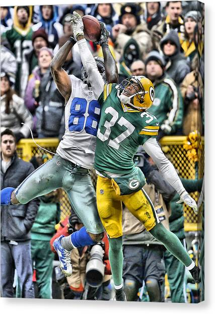 Dallas Cowboys Canvas Print - Dez Bryant Cowboys Art 4 by Joe Hamilton