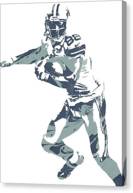Dallas Cowboys Canvas Print - Dez Bryant Dallas Cowboys Pixel Art 10 by Joe Hamilton
