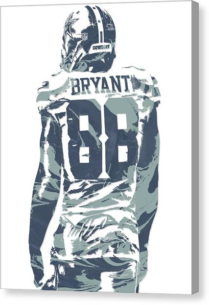 Dallas Cowboys Canvas Print - Dez Bryant Dallas Cowboys Pixel Art 12 by Joe Hamilton