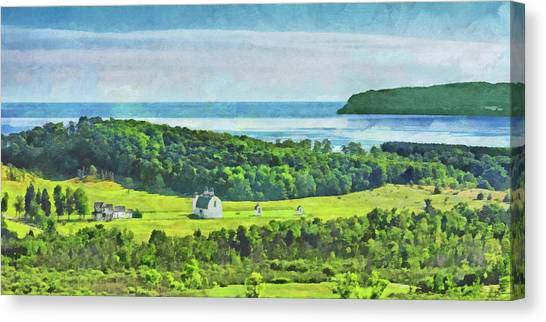 Canvas Print featuring the digital art D. H. Day Farmstead At Sleeping Bear Dunes National Lakeshore by Digital Photographic Arts