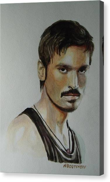 Dhanush Popular Indian Singer Canvas Print