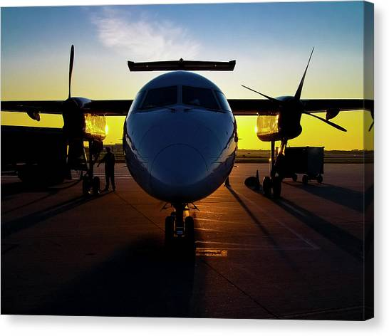 Dhc-8-300 Refueling Canvas Print