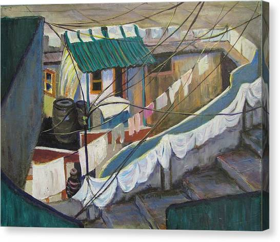 Dhobi Canvas Print by Art Nomad Sandra  Hansen
