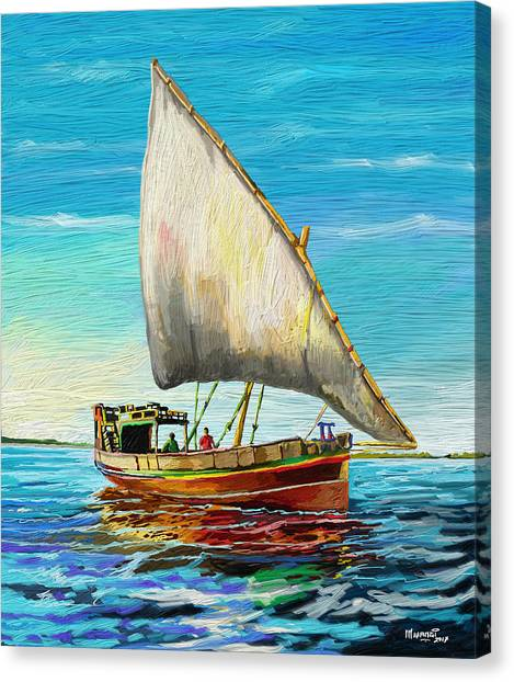 Dhow Canvas Print - Dhow At Lamu by Anthony Mwangi
