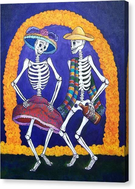 Catrina Canvas Print - Dia De Los Muertos by Candy Mayer