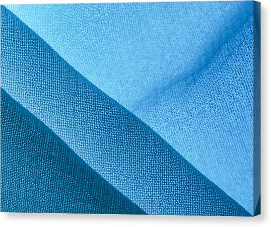 Canvas Print featuring the photograph Diagonal Blue by Yogendra Joshi