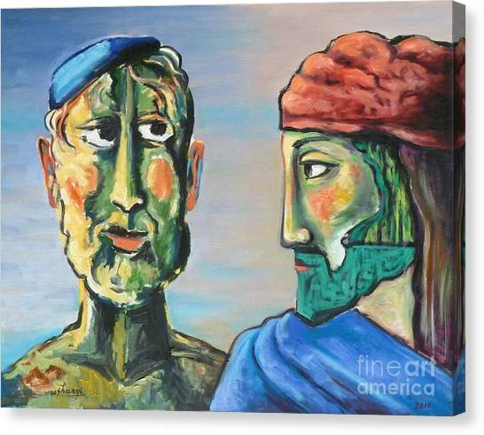 Dialogue Canvas Print by Ushangi Kumelashvili
