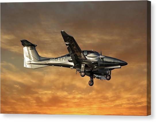 Diamonds Canvas Print - Diamond Aircraft Diamond Da-62 2 by Smart Aviation