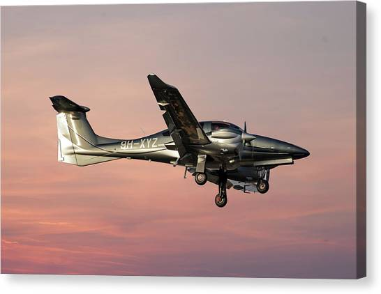 Diamonds Canvas Print - Diamond Aircraft Diamond Da-62 by Smart Aviation